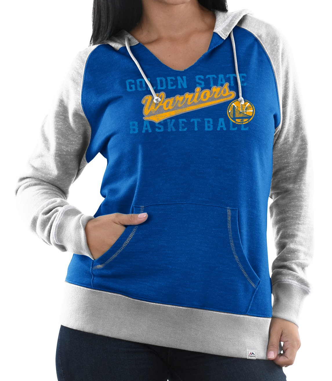 "Golden State Warriors Women's Majestic ""Pick N Roll"" Pullover Hooded Sweatshirt"