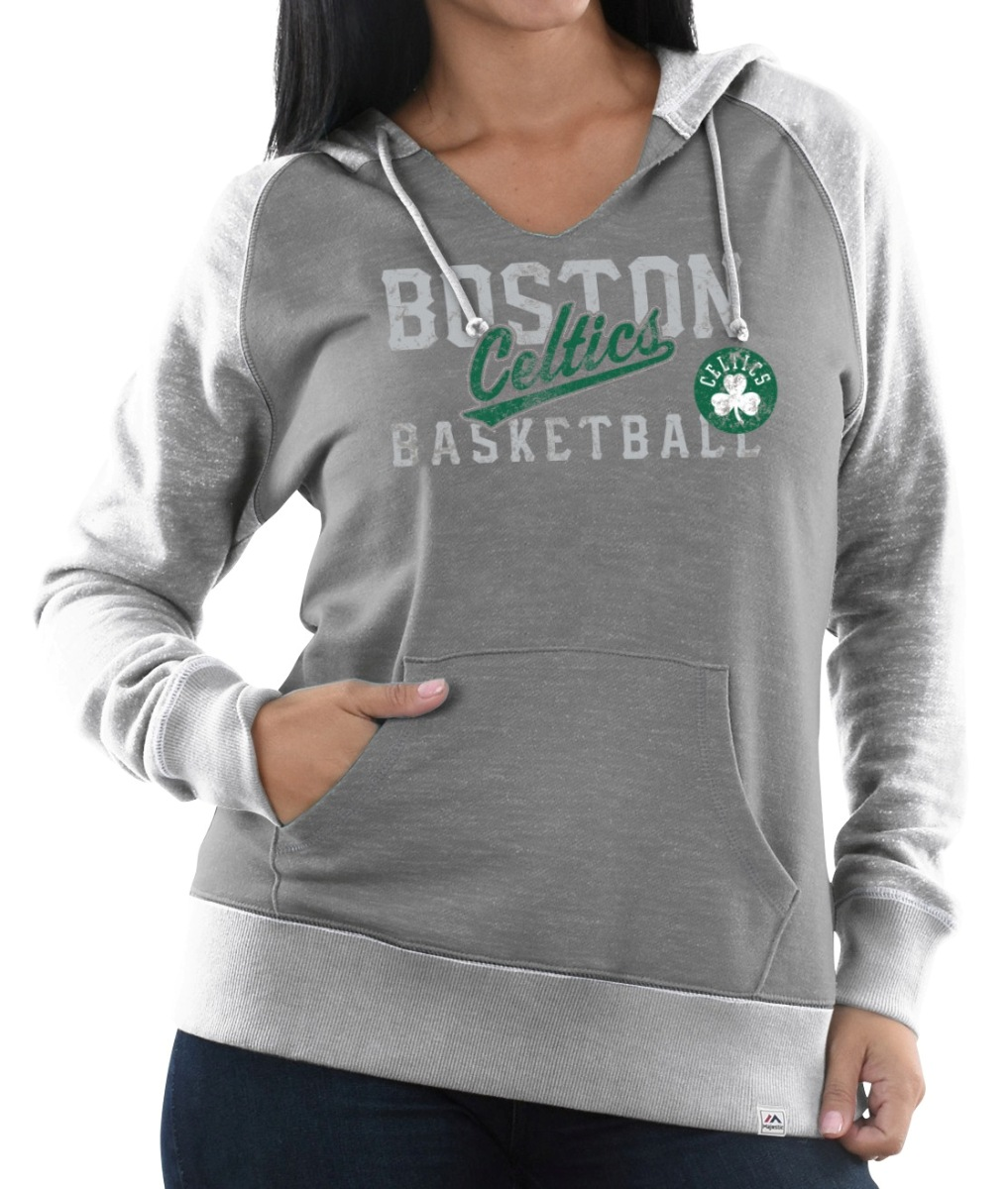"Boston Celtics Women's Majestic NBA ""Pick N Roll"" Pullover Hooded Sweatshirt"