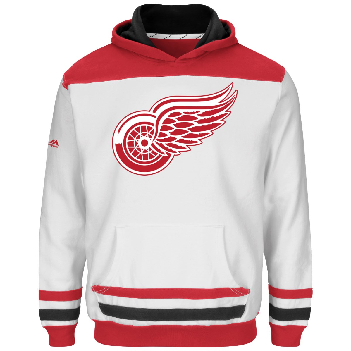 "Detroit Red Wings Youth Majestic NHL ""Lil' Double Minor"" Hooded Sweatshirt"