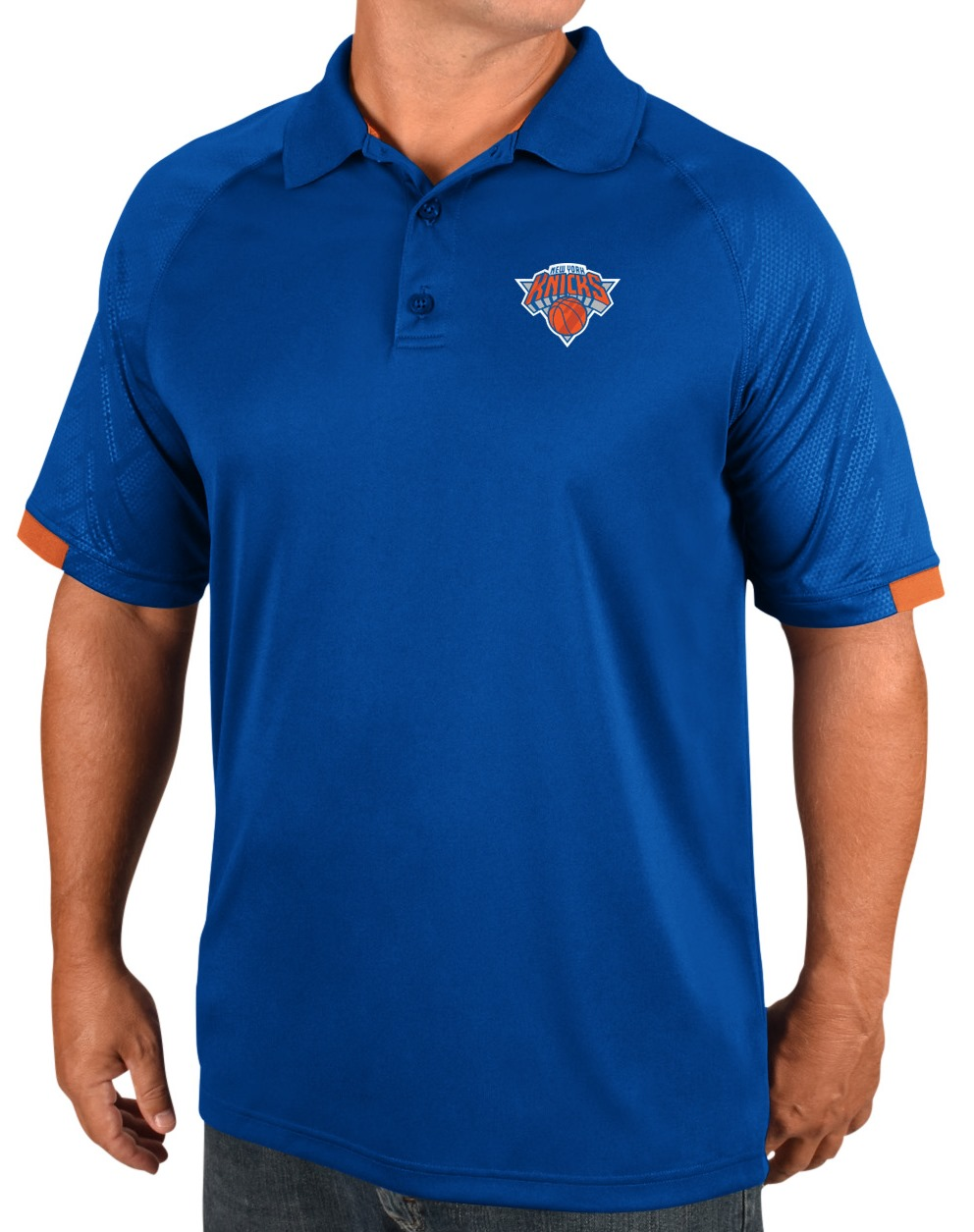 "New York Knicks Majestic NBA ""Excitement"" Men's Synthetic Polo Shirt"