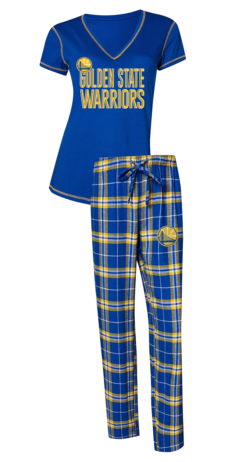 "Golden State Warriors NBA ""Super Duo"" Women's T-shirt & Flannel Pants Sleep Set"