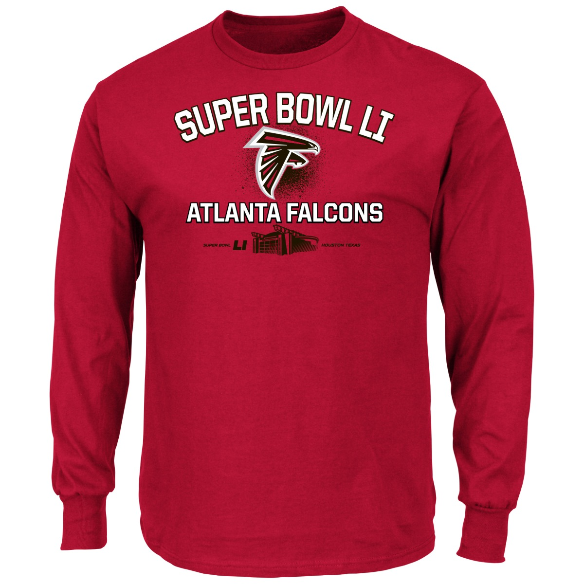 "Atlanta Falcons Majestic NFL Super Bowl LI 51 ""Destination"" L/S Men's T-Shirt"
