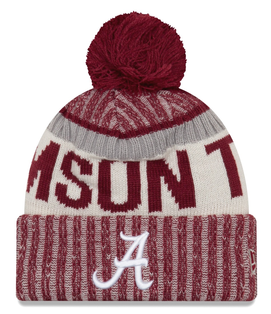 "Alabama Crimson Tide New Era NCAA ""NE17 Sport Knit"" Hat with Pom"