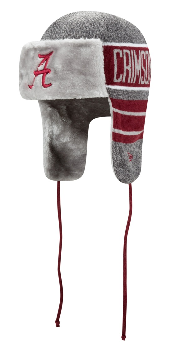 "Alabama Crimson Tide New Era NCAA ""Frosty Trapper"" Fur Lined Knit Hat"