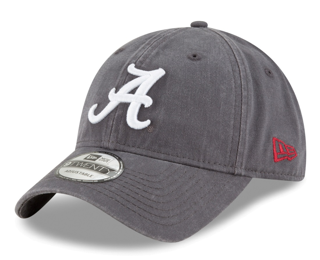 "Alabama Crimson Tide New Era 9Twenty NCAA ""Twill Core Classic"" Hat - Graphite"