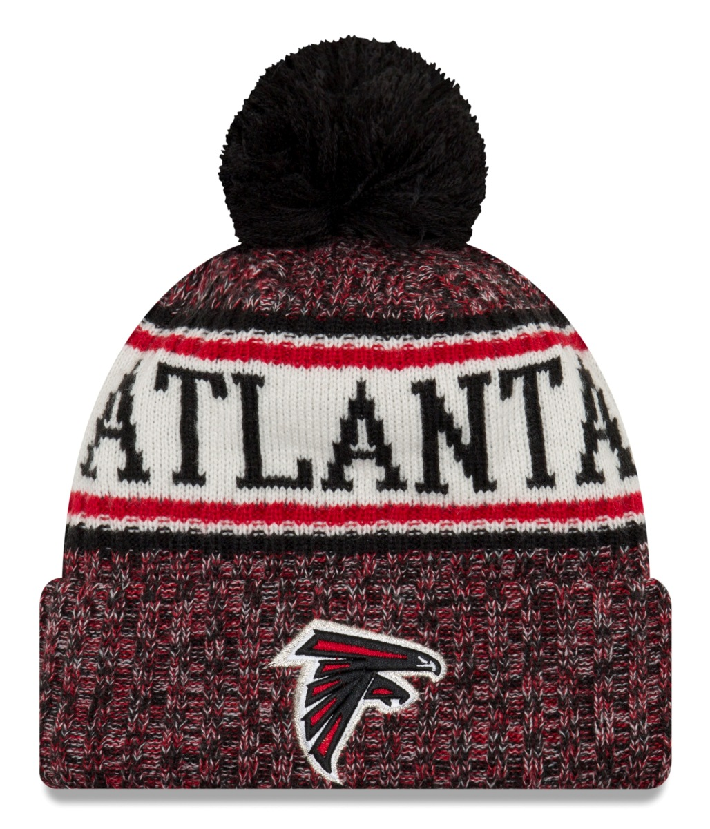 Atlanta Falcons New Era 2018 NFL Sideline On Field Sport Knit Hat - Red