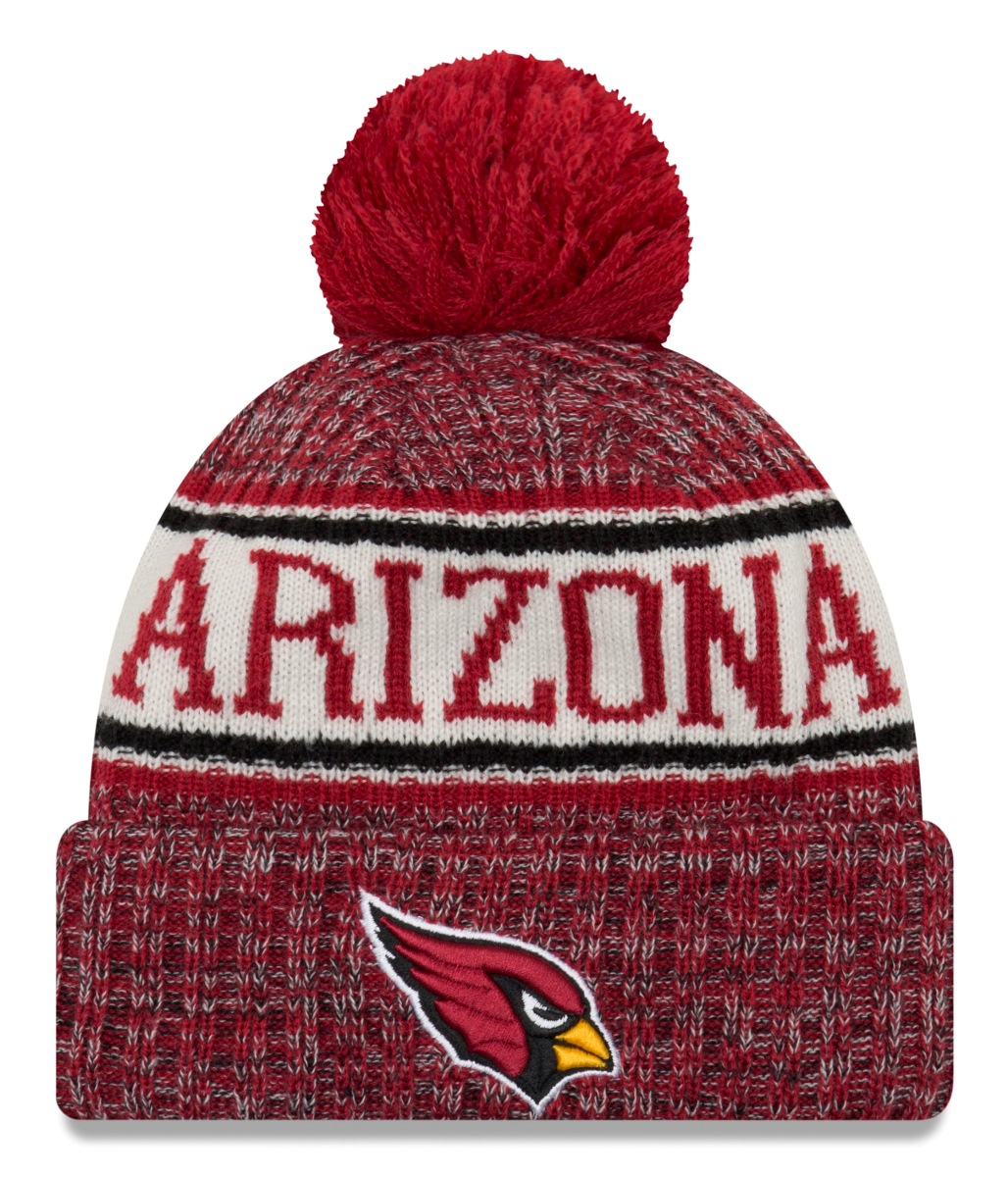 Arizona Cardinals New Era 2018 NFL Sideline On Field Sport Knit Hat - Red