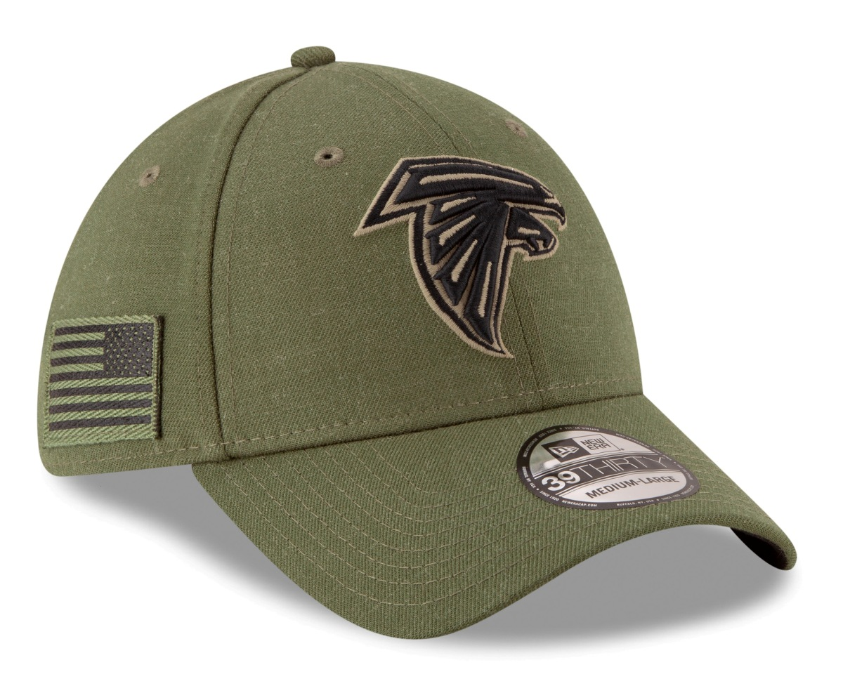 "Atlanta Falcons New Era NFL 39THIRTY 2018 Sideline ""Salute to Service"" Hat"