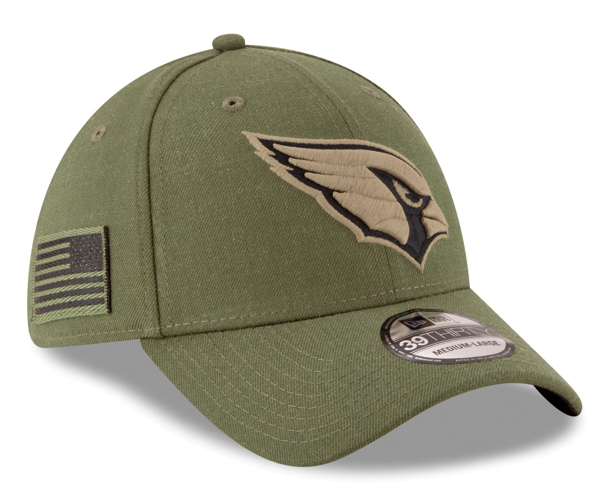 "Arizona Cardinals New Era NFL 39THIRTY 2018 Sideline ""Salute to Service"" Hat"