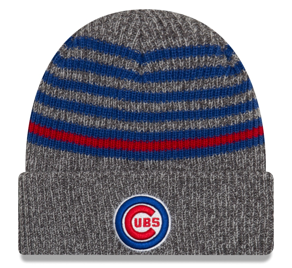 "Chicago Cubs New Era MLB ""Stripe Strong"" Cuffed Knit Hat"