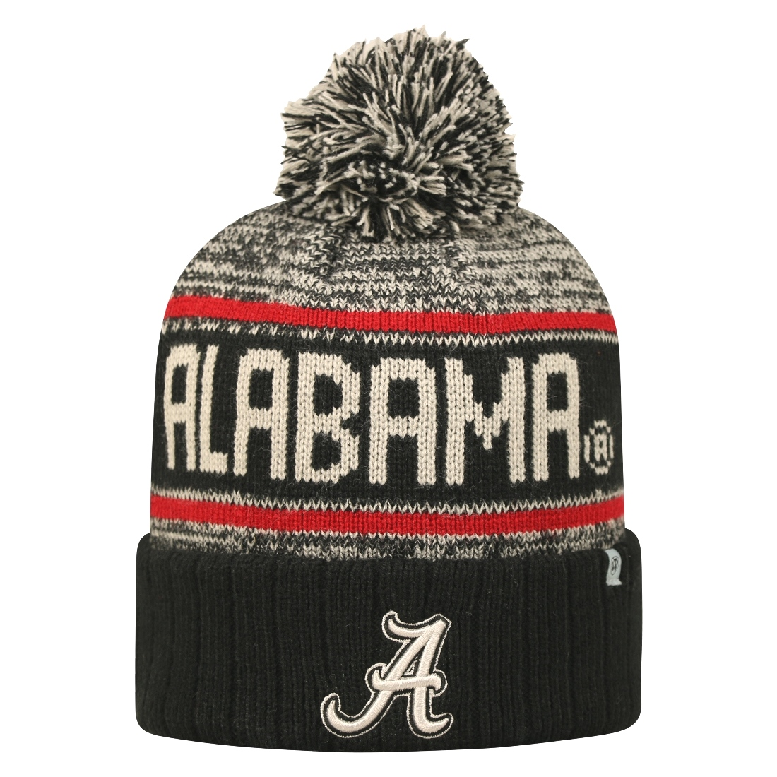 "Alabama Crimson Tide NCAA Top of the World ""Acid Rain"" Striped Cuffed Knit Hat"