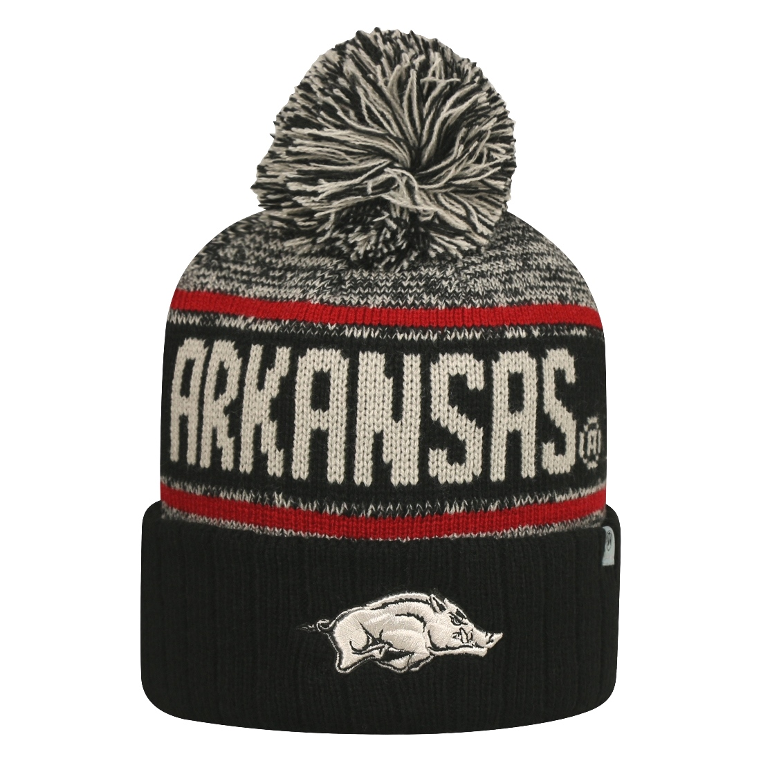"Arkansas Razorbacks NCAA Top of the World ""Acid Rain"" Striped Cuffed Knit Hat"