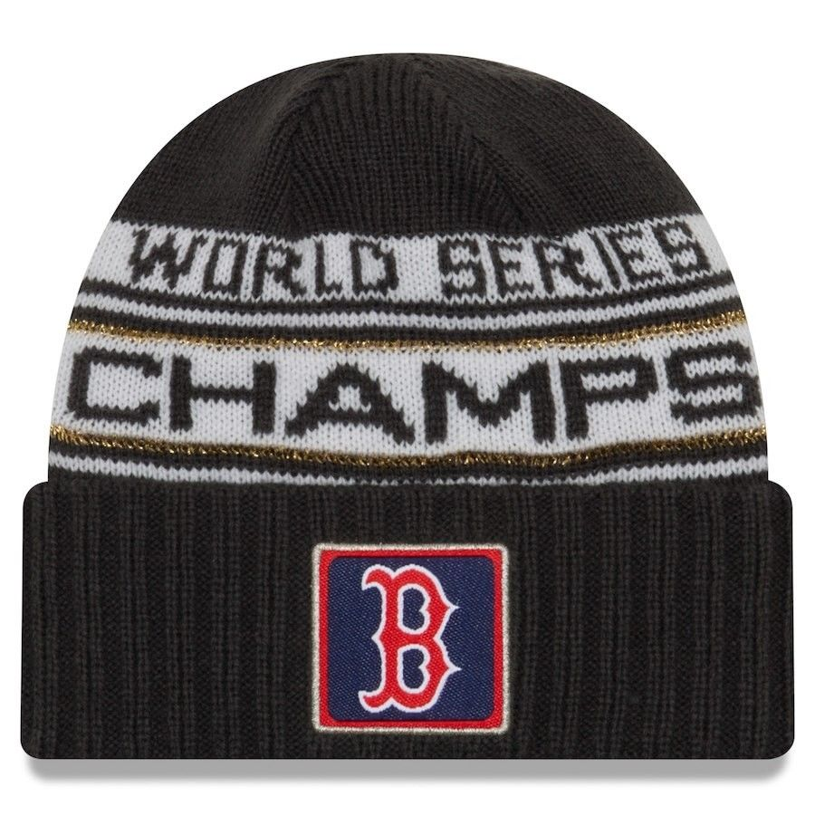 Boston Red Sox New Era 2018 World Series Champions Men's Locker Room Knit Hat