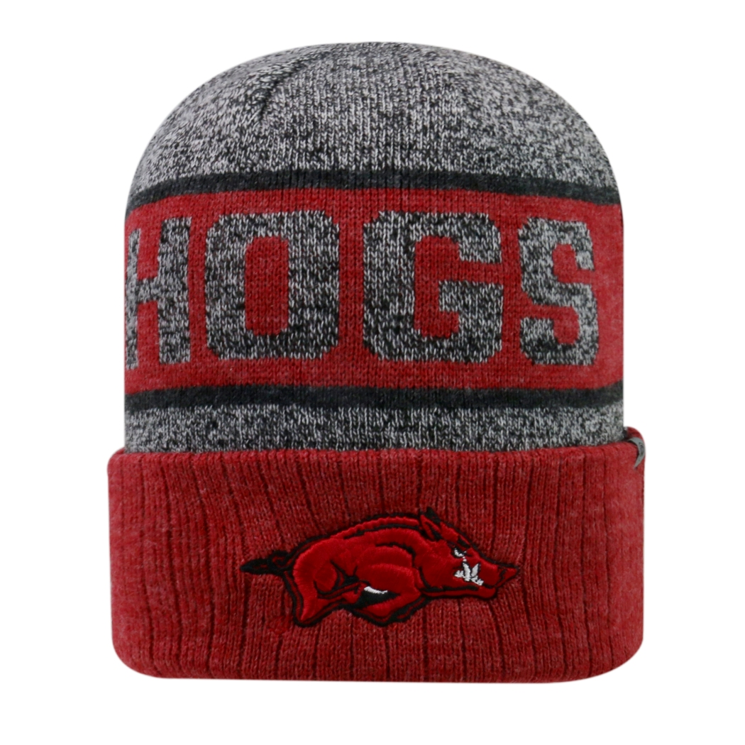 "Arkansas Razorbacks NCAA Top of the World ""Below Zero 2"" Cuffed Knit Hat"