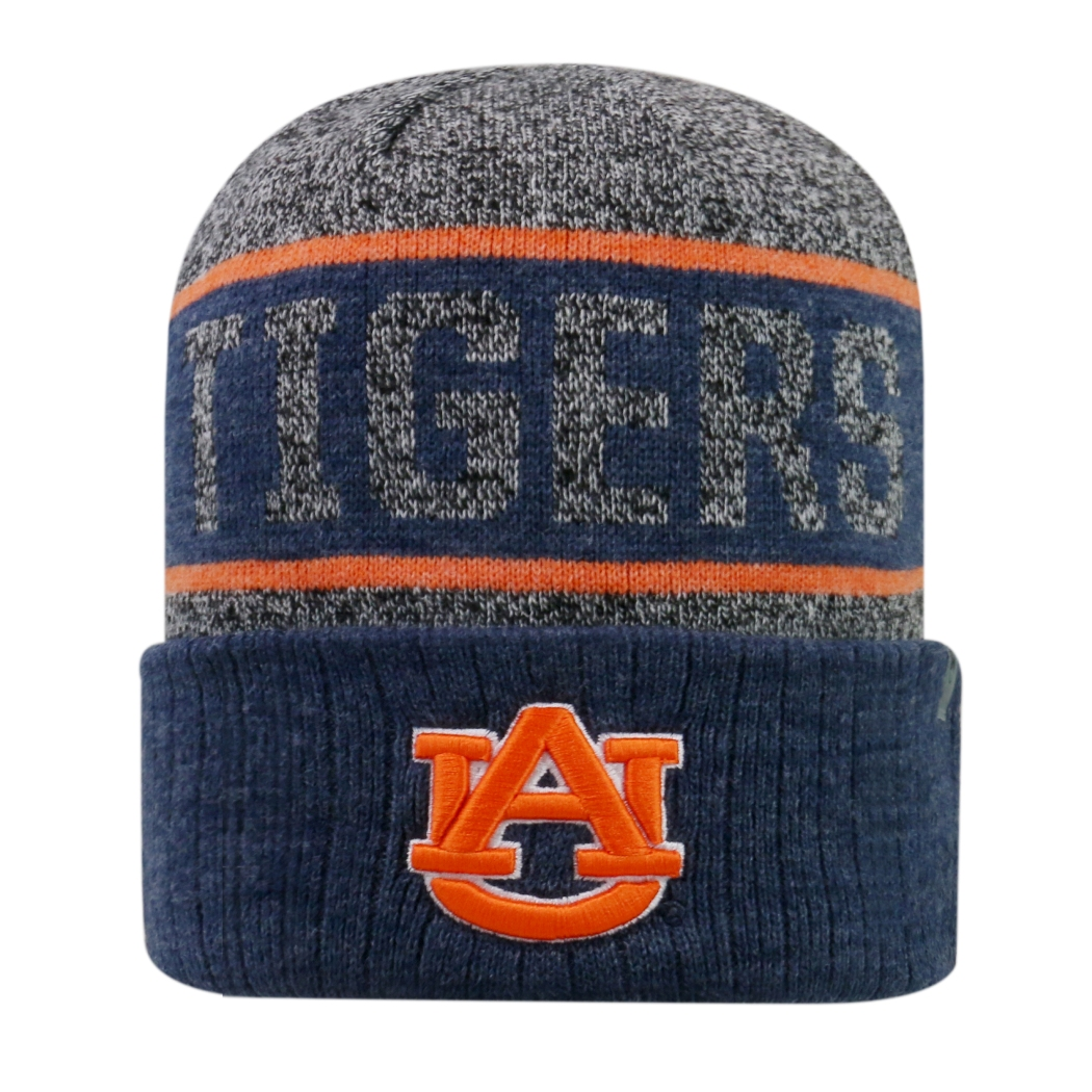 "Auburn Tigers NCAA Top of the World ""Below Zero 2"" Cuffed Knit Hat"