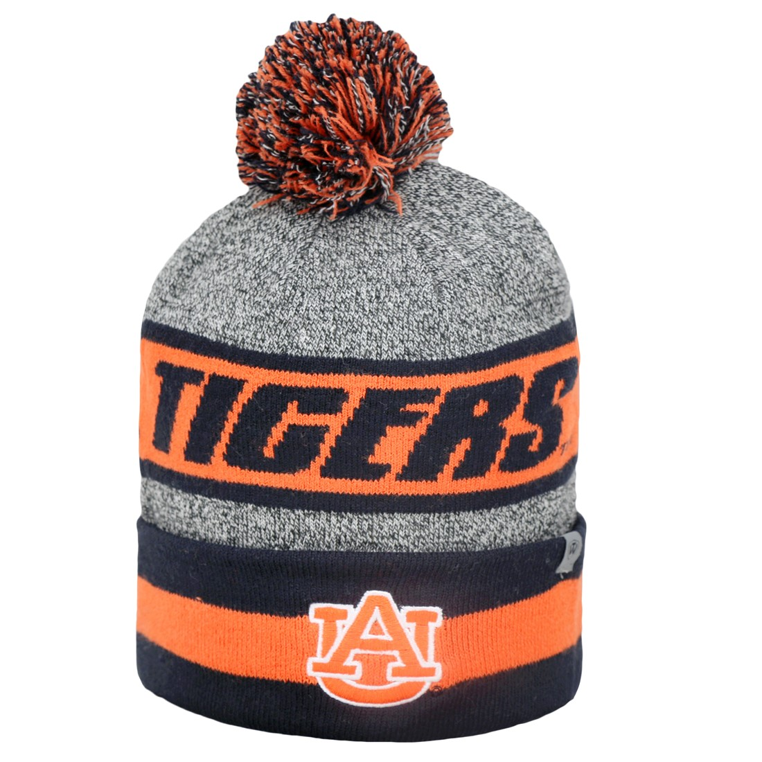 "Auburn Tigers NCAA Top of the World ""Cumulus"" Striped Cuffed Knit Hat"
