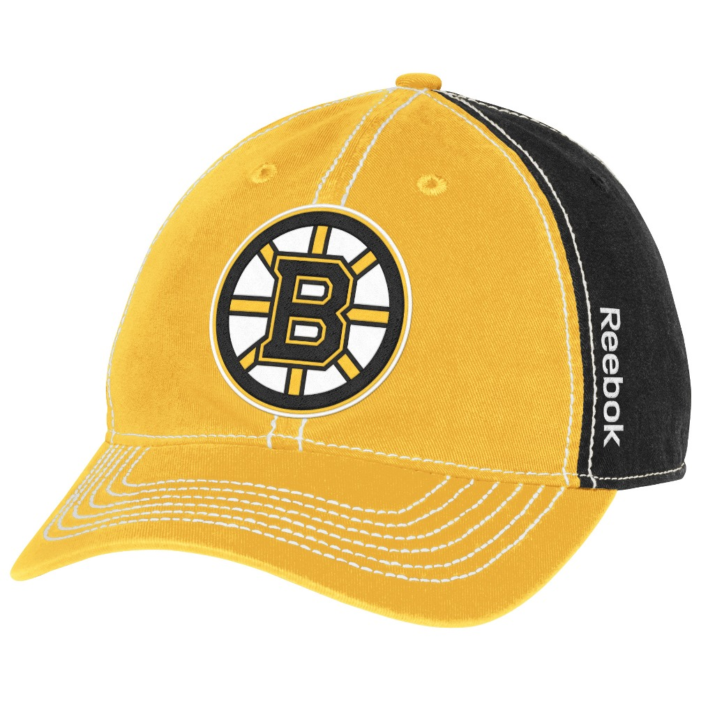"Boston Bruins Reebok NHL ""Spin"" Adjustable Slouch Hat"