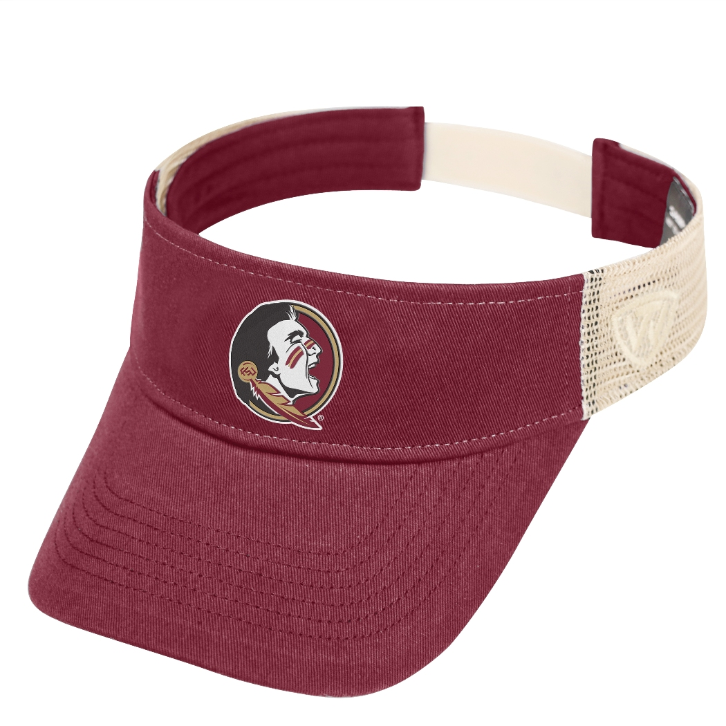 "Florida State Seminoles NCAA Top of the World ""Sandstone"" Mesh Back Visor"