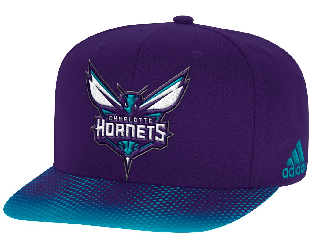Charlotte Hornets Adidas NBA Sublimated Dot Embroidered Snap Back Hat