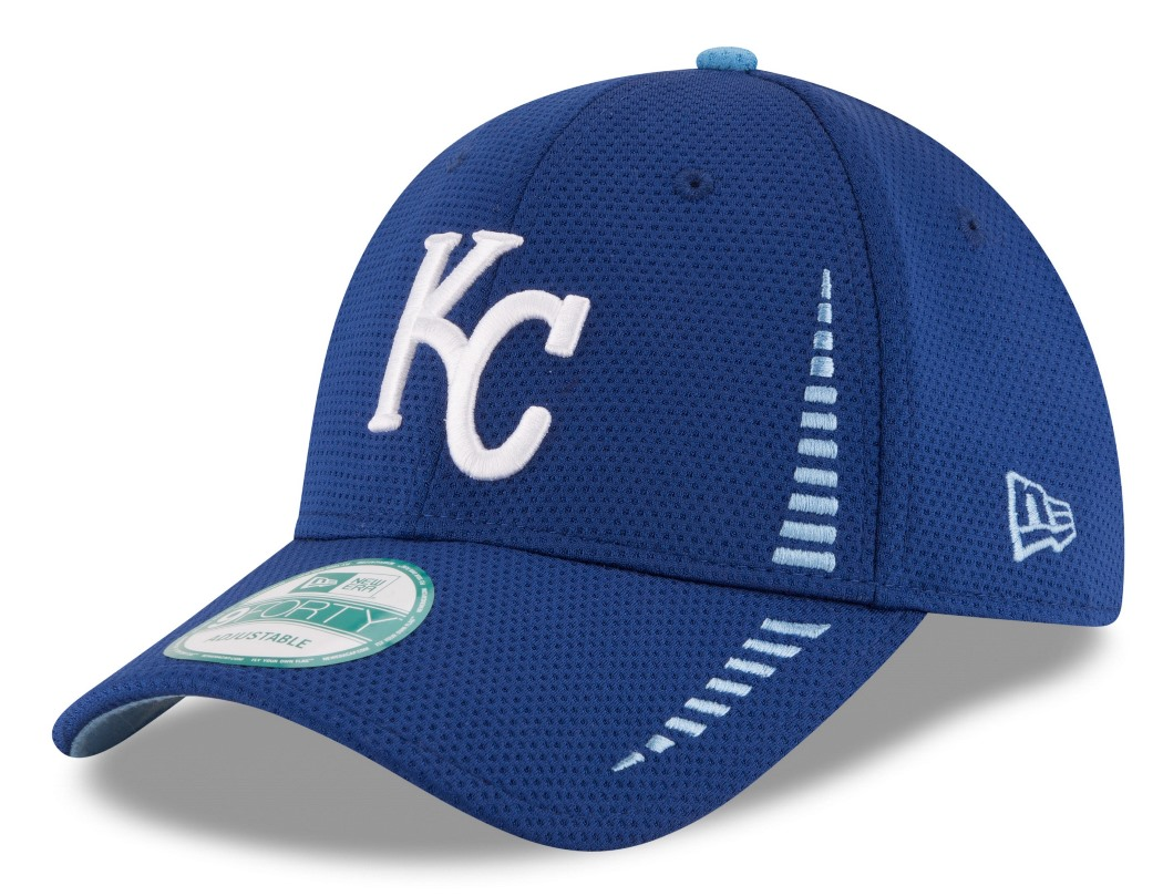 "Kansas City Royals New Era 9Forty MLB ""Speed"" Performance Adjustable Hat - Blue"