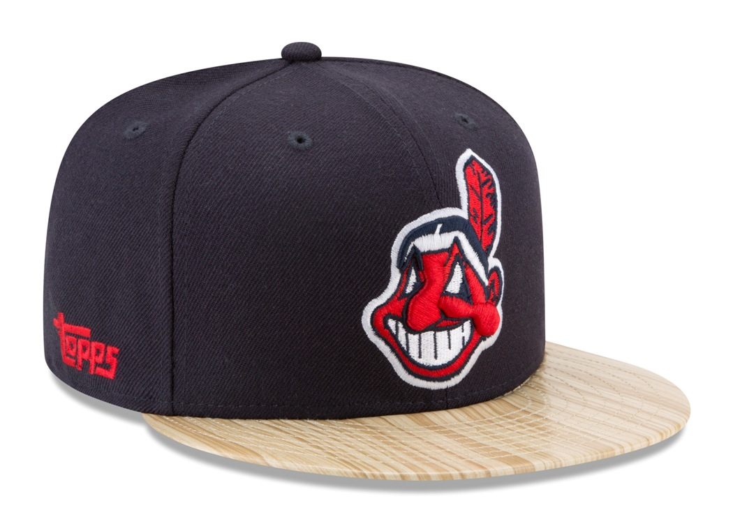 "Cleveland Indians New Era 9FIFTY MLB Cooperstown ""1987 Topps"" Snapback Hat"
