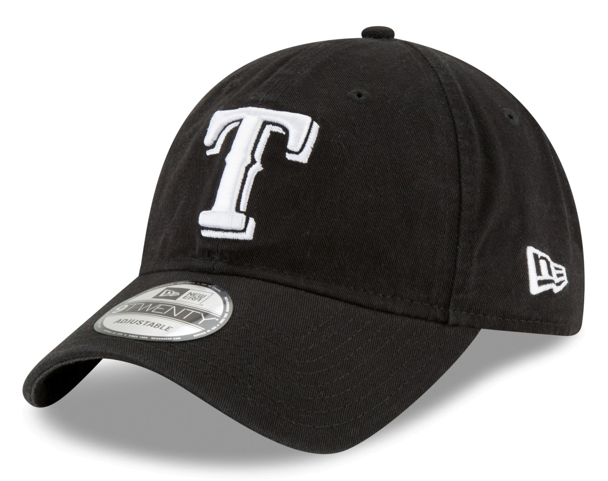 "Texas Rangers New Era MLB 9Twenty ""Core Classic Twill"" Adjustable Black Hat"