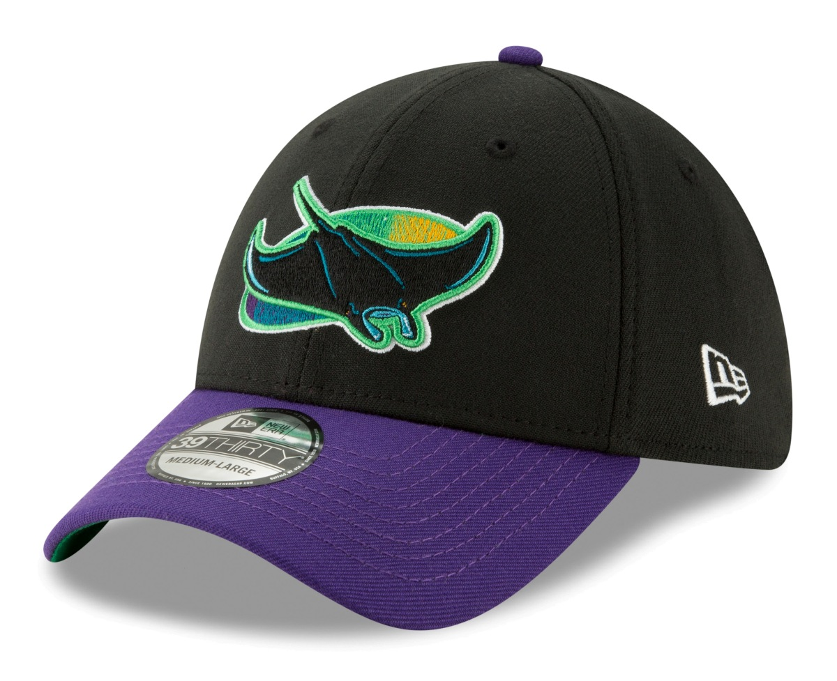 "Tampa Bay Rays New Era 39THIRTY MLB Cooperstown ""Logo Pack"" Flex Fit Hat"