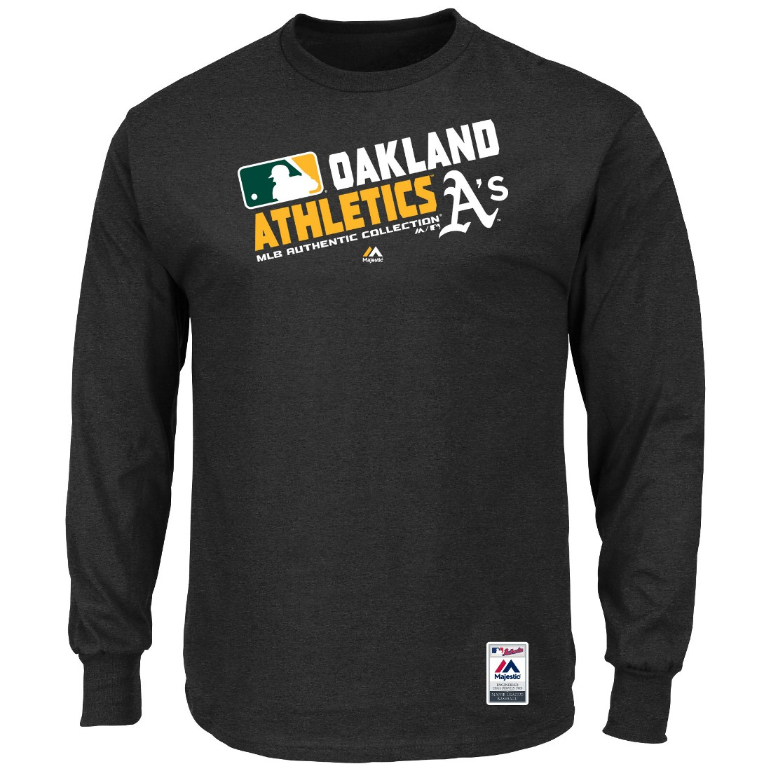 "Oakland Athletics Majestic MLB Authentic ""Team Choice"" On-Field L/S T-Shirt"