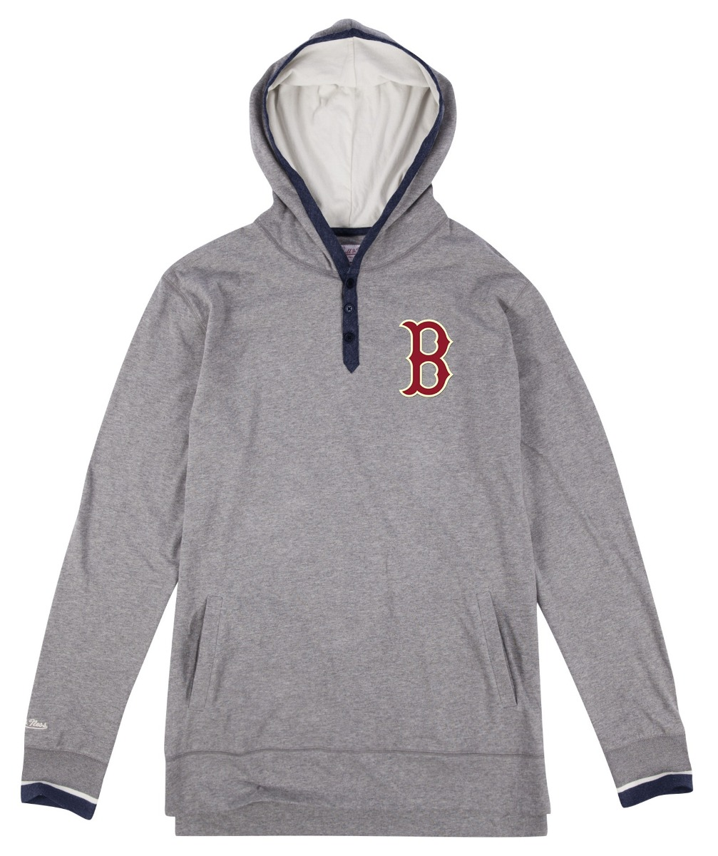 "Boston Red Sox Mitchell & Ness MLB ""Long Ball"" Long Sleeve Hooded Men's Shirt"