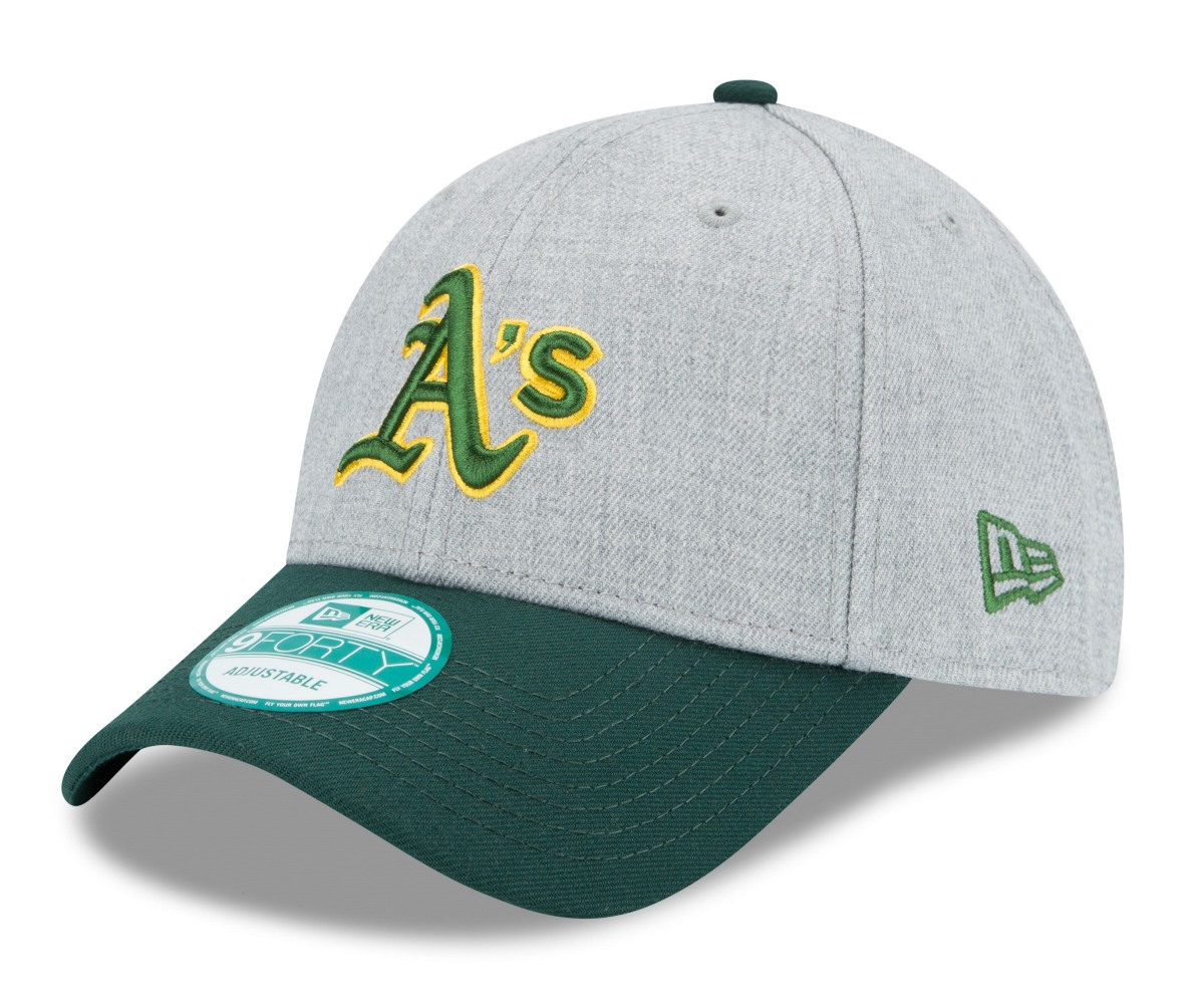 "Oakland Athletics New Era 9Forty MLB ""The League Heather"" Adjustable Hat"