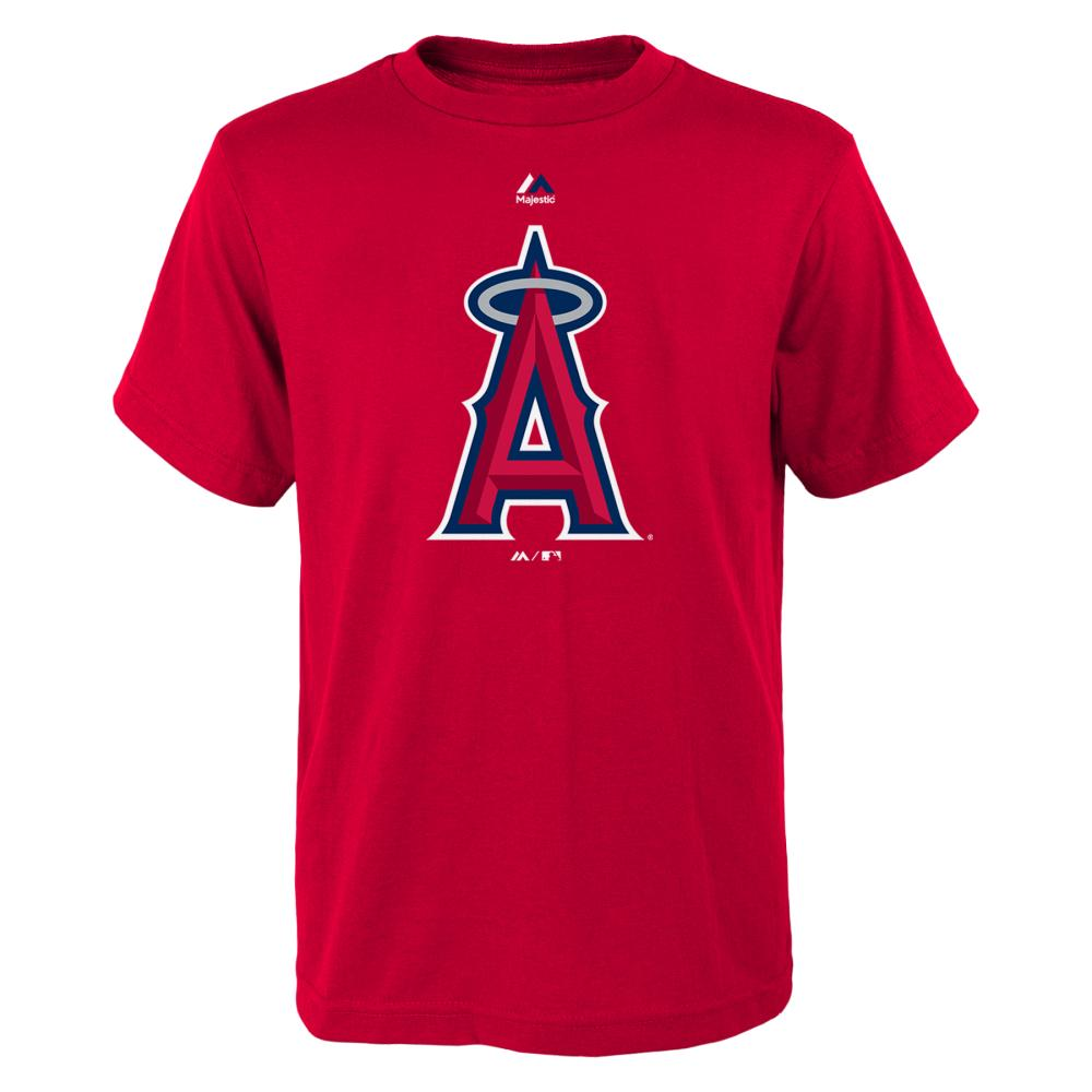 "Los Angeles Angels Youth Majestic MLB ""Primary Logo"" T-Shirt - Red"