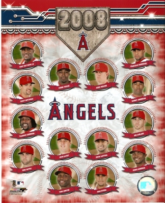 Los Angeles Angels 2008 Team Composite 8x10