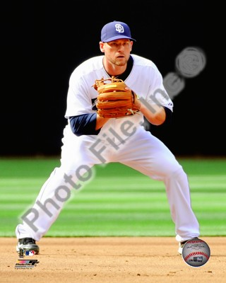 Chase Headley Padres Fielding 8x10 Photo