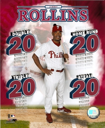Jimmy Rollins 20/20/20/20 Club 8x10 Photo