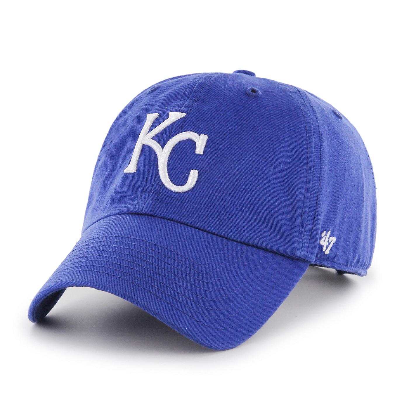 Kansas City Royals 47 Brand MLB Clean Up Adjustable Hat - Blue