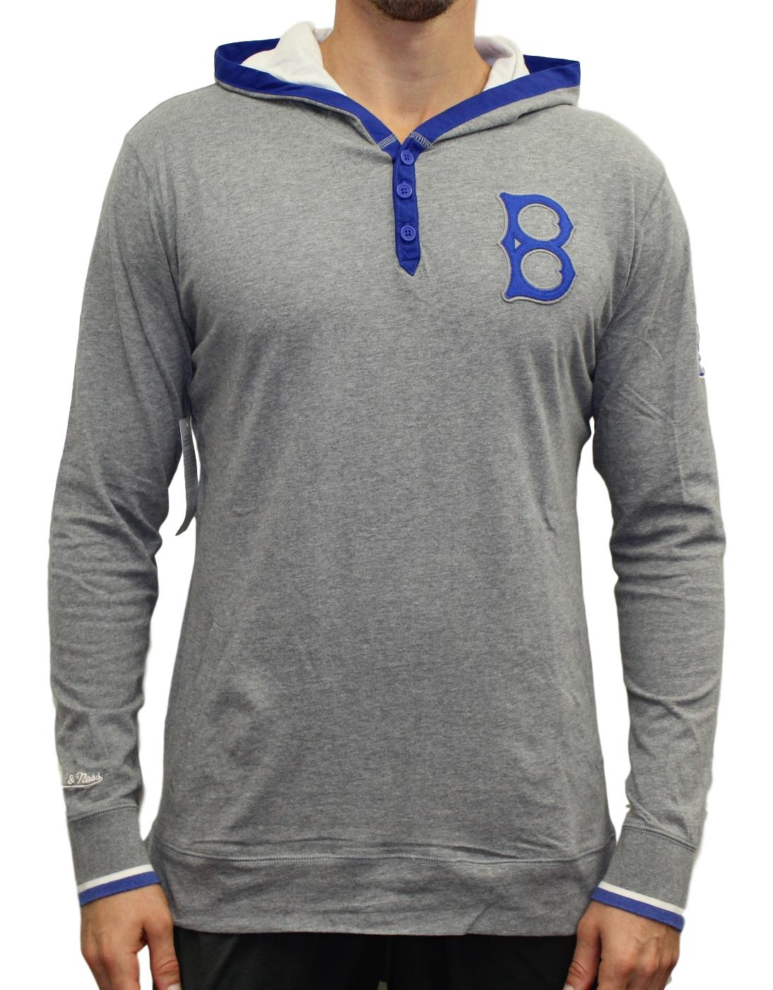 "Brooklyn Dodgers Mitchell & Ness MLB ""Winner"" Long Sleeve Hooded Henley Shirt"