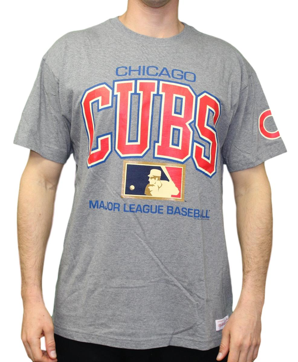 "Chicago Cubs Mitchell & Ness MLB Men's ""Game Day"" Short Sleeve T-Shirt"