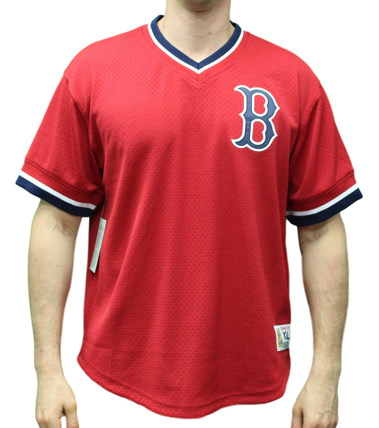 "Boston Red Sox Mitchell & Ness MLB Men's ""Game Winner"" Mesh Jersey Shirt"