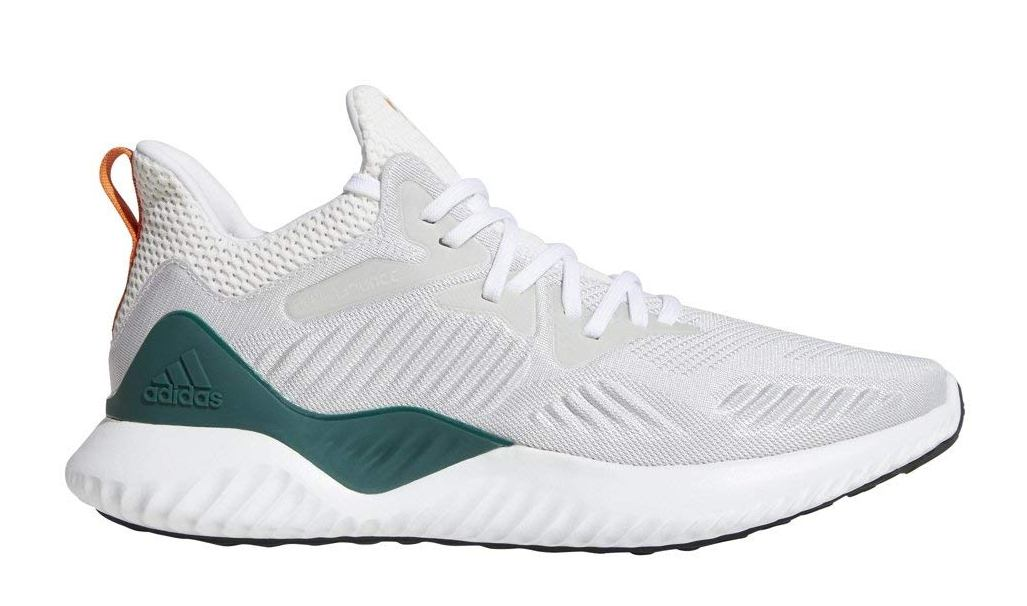 Adidas Men's Alphabounce Running Shoe - White/Orange/Green