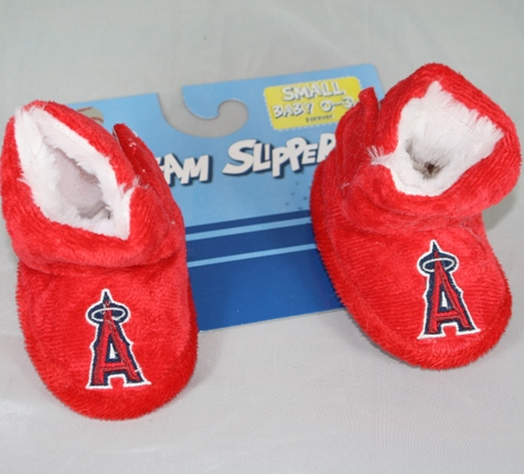 Los Angeles Angels MLB Baby High Boot Slippers