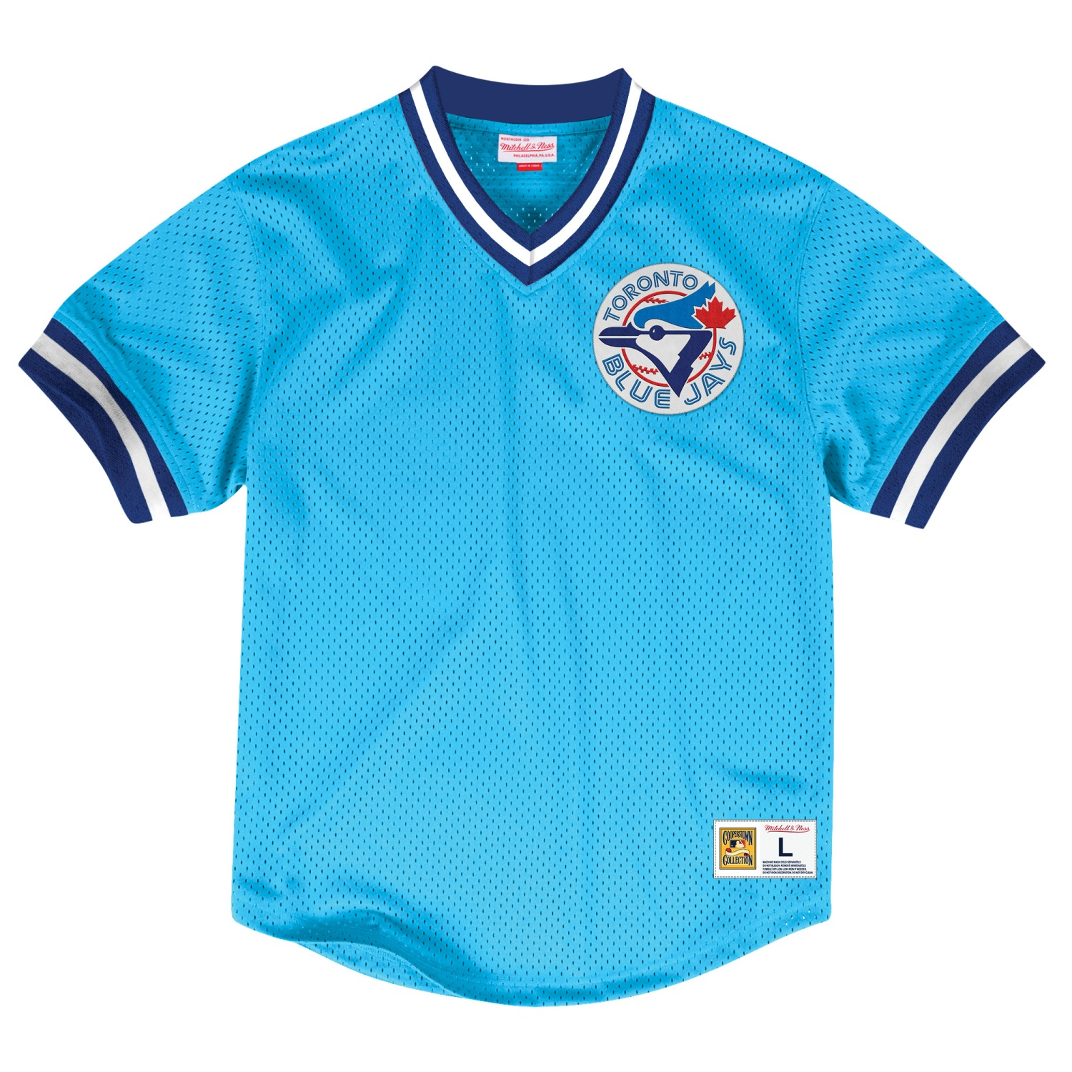 "Toronto Blue Jays Mitchell & Ness MLB Men's ""Team Win"" Mesh Jersey Shirt"