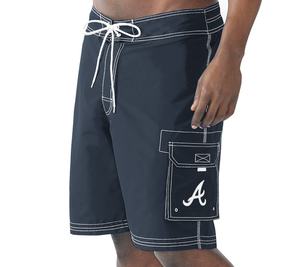 "Atlanta Braves MLB G-III ""Baseline"" Men's Boardshorts Swim Trunks"