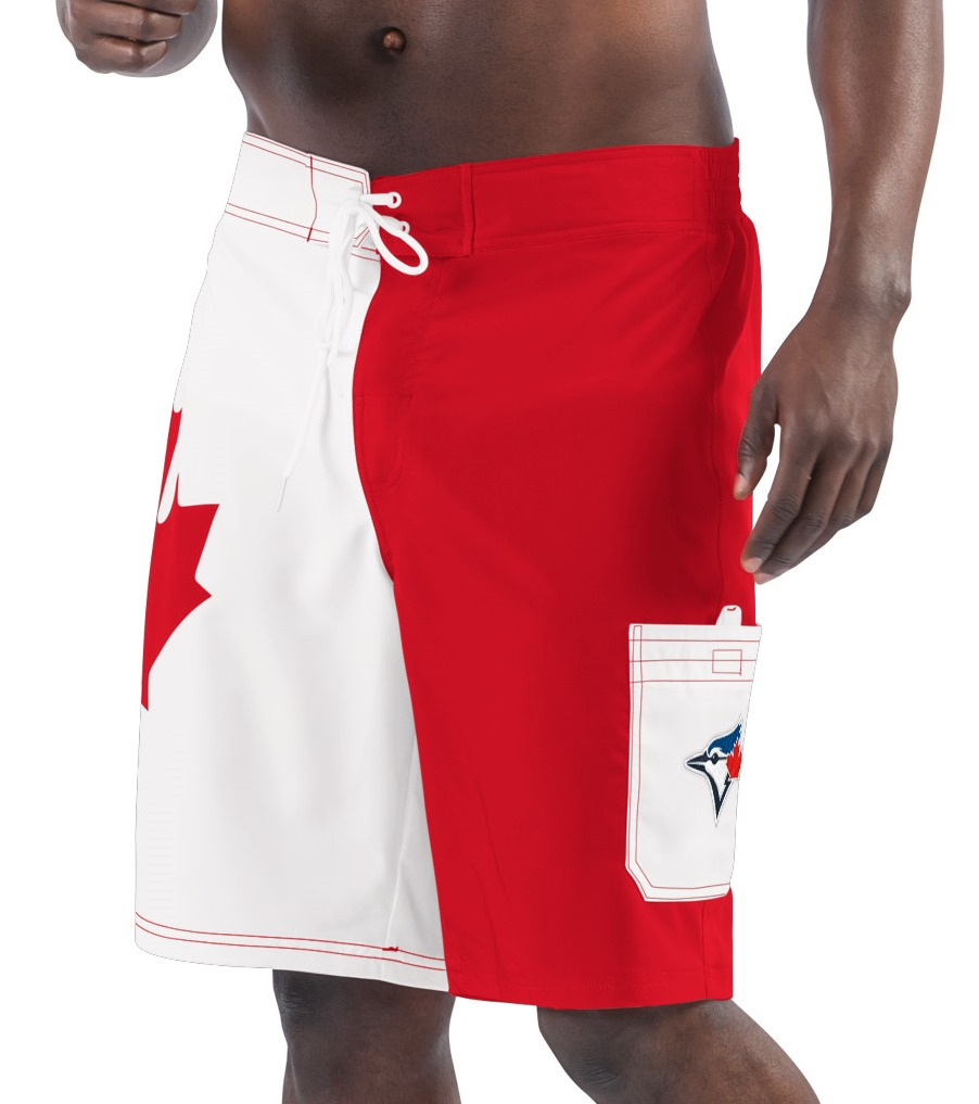 "Toronto Blue Jays MLB G-III ""Oh Canada"" Men's Boardshorts Swim Trunks"