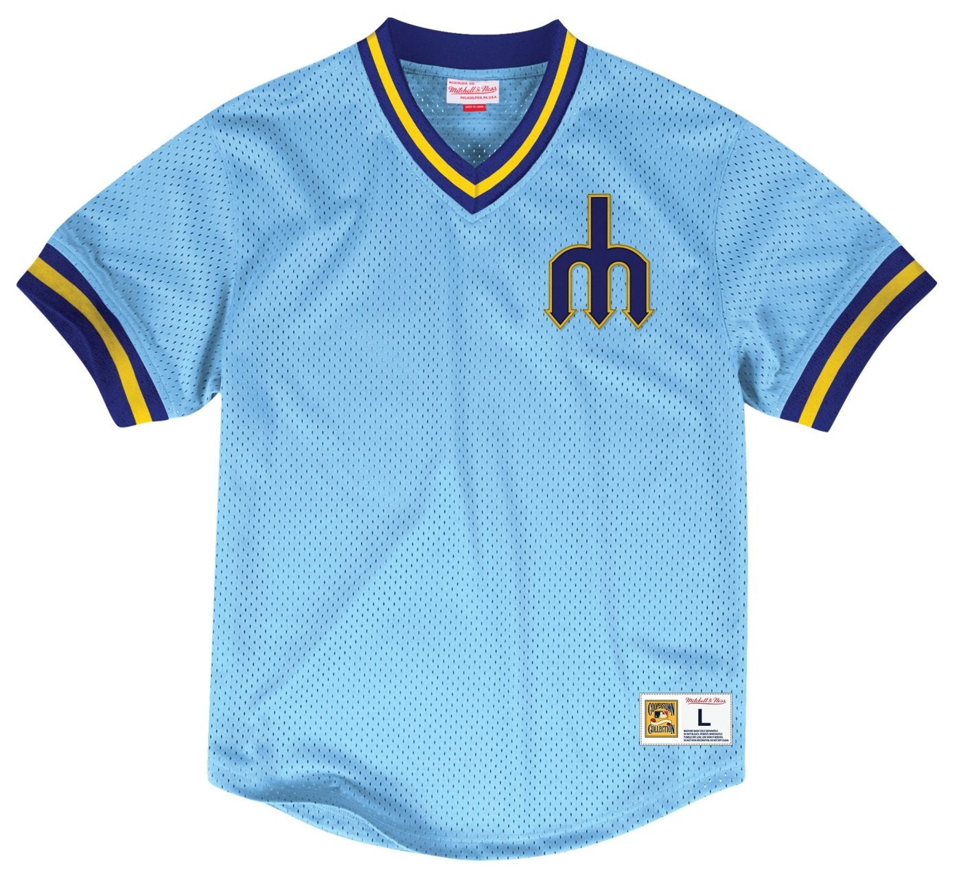 "Seattle Mariners Mitchell & Ness MLB Men's ""Team Win"" Mesh Jersey Shirt"