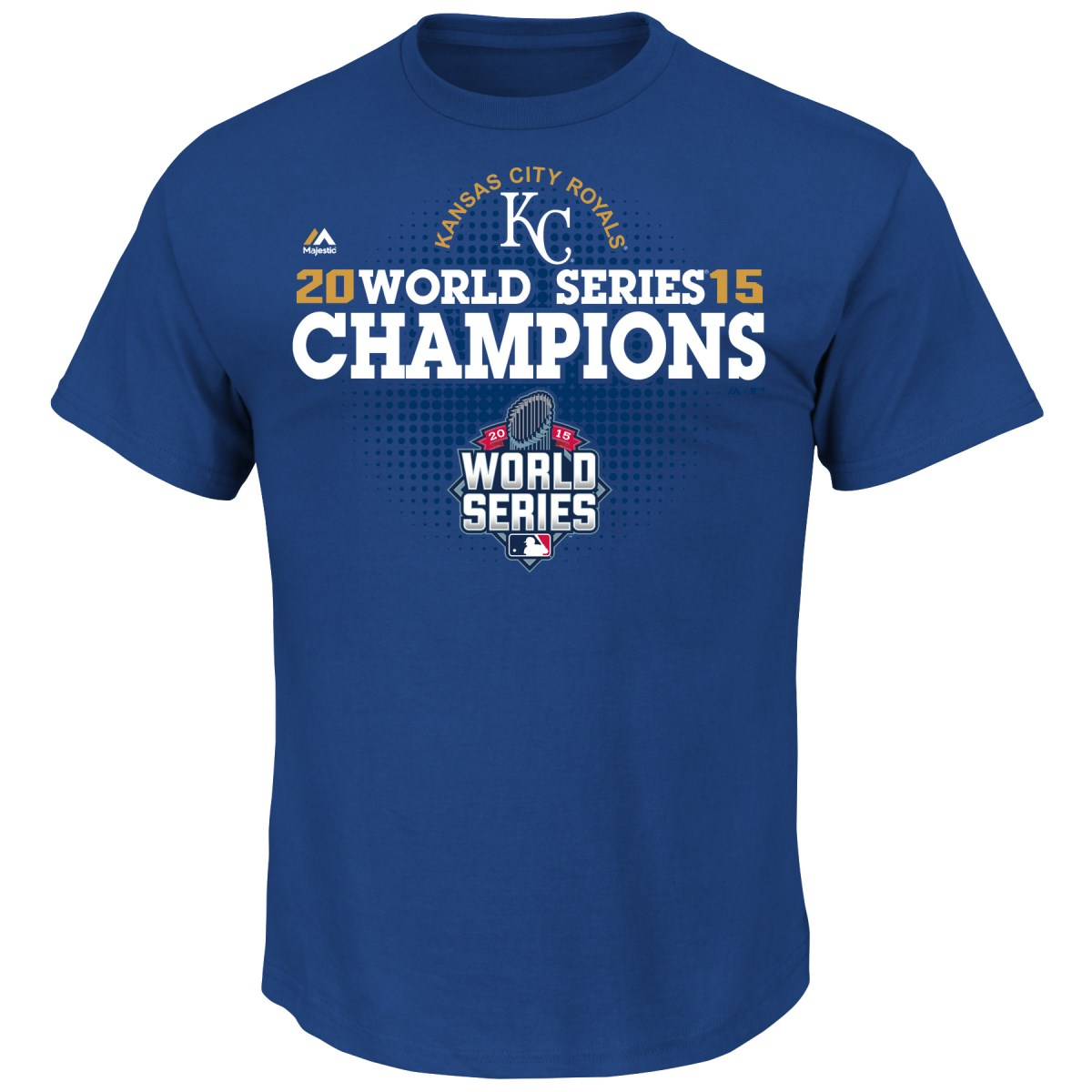 "Kansas City Royals Majestic 2015 World Series Champions ""Victory"" Men's T-Shirt"