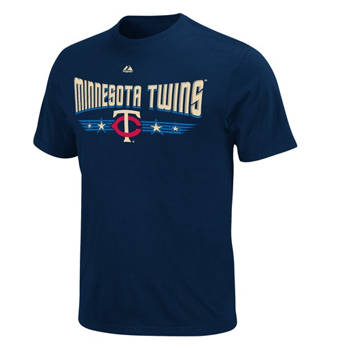 "Minnesota Twins Majestic Cooperstown""Tickets Tee"" Navy T-Shirt"