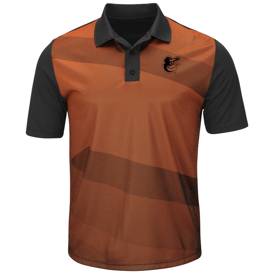 "Baltimore Orioles Majestic MLB ""Late Night Prize"" Men's Performance Polo Shirt"