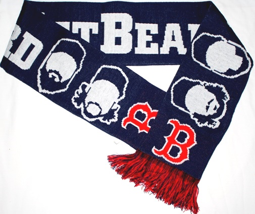 "Boston Red Sox MLB 2013 ""Get Beard"" Players Wordmark Knit Scarf"