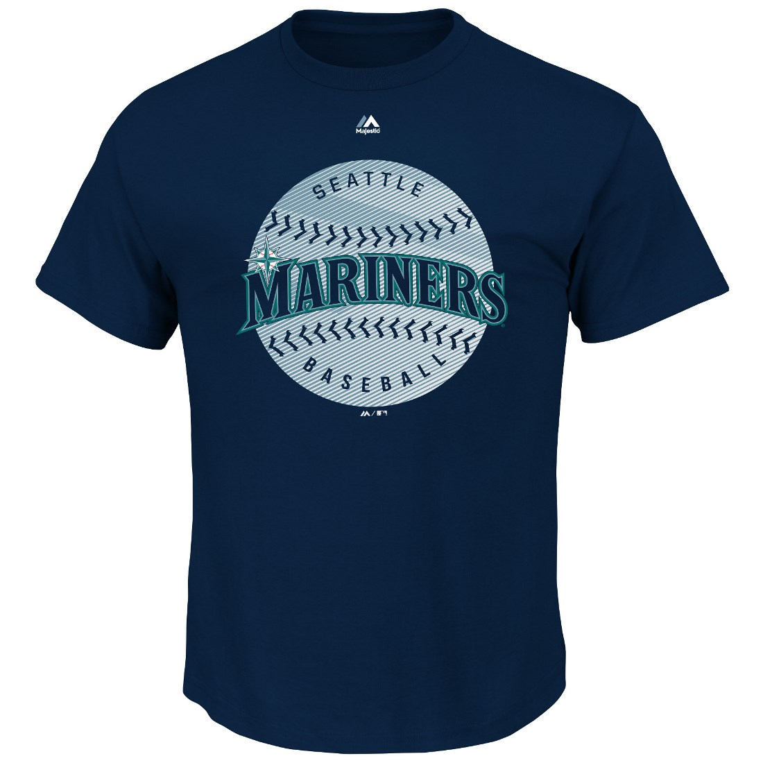 "Seattle Mariners Majestic MLB ""Electric Ball"" Short Sleeve Men's T-Shirt"
