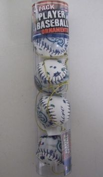 Ichiro Mariners MLB Player Baseball Ornaments 4 Pack